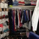 A closet before makeover