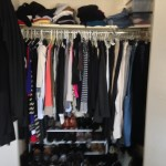 Center shot of closet before makeover