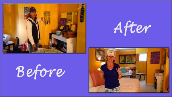 Organizing a bedroom